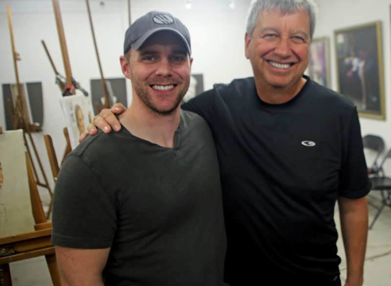 Eric Rhodes stopped in for a visit and to check out Scott's workshop