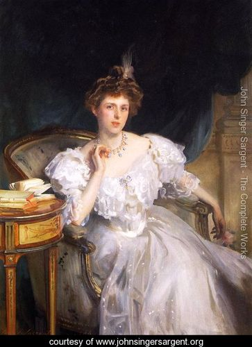 John Singer Sargent (1856-1925) Mrs. William George Raphael (1906) oil on canvas 56 X 41 in.