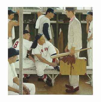Norman Rockwell (1894-1978) The Rookie, Price realized $22,565,000