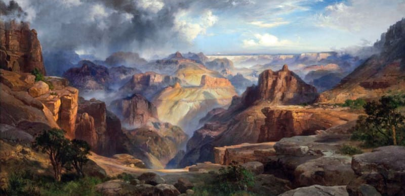 Courtesy of Christie's, Thomas Moran (1837-1926) The Grand Canyon of the Colorado  price realized $12,485,000