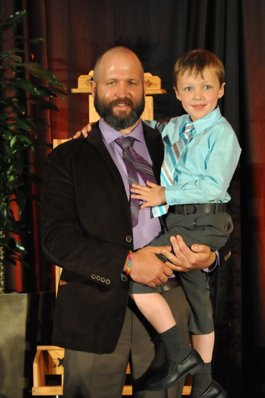 Photo: complements of Under Paintings William Draper and his adorable son accepting the awards.