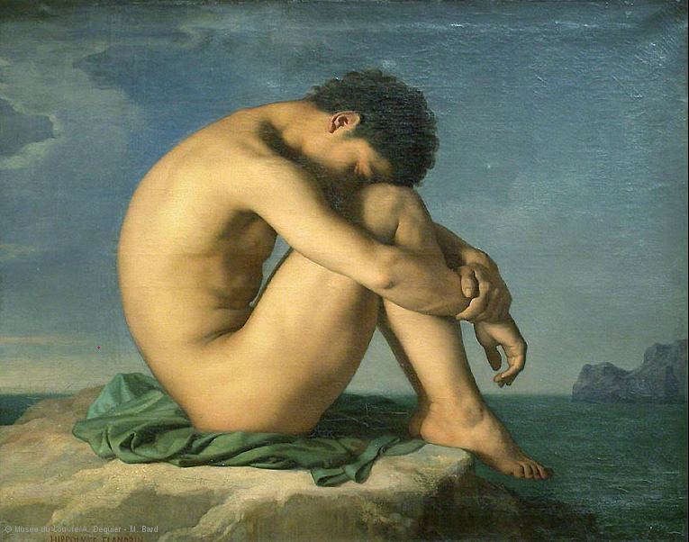 Hippolyte FLANDRIN (Lyon, 1809 - Rome, 1864)  This was the painting I wanted to copy at the Lourve.