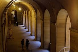 A vaulted hallway at the Philadelphia Museum of Art.