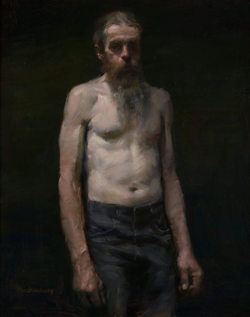 Pat bearded by Max Ginsburg. Max won the William Draper grand prize with this painting two years ago.